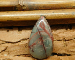 Bloodstone cabochon bead for pendant making (G1502)