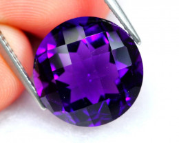 Amethyst 8.19Ct Natural Uruguay VVS  Electric Purple Amethyst D2701