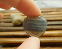 Small heart fluorite gemstone cabochon (G1512)