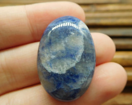 Natural blue gemstone african sodalite cabochon (G1520)
