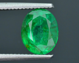 AIG Certified 3.16 ct  Emerald Vivid Green Zambia SKU-32