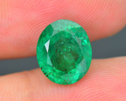 AIG Certified Top Grade 2.54 ct Zambian Emerald SKU-32