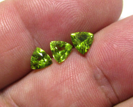 1.89tcw Natural Peridot Matching Trillion Cut