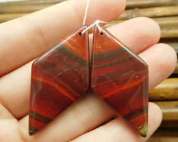 Natural red matching jasper cabochon bead (G1534)