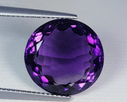 10.68 ct Top Quality Gem Beautiful Round Cut Natural Amethyst