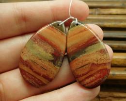 Teardrop match gemstone jewelry pair red jasper