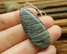 Picasso jasper gemstone pendant natural bead (G1541)