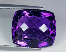 18.57 ct Top Quality Gem  Octagon Checker Cut Natural Amethyst
