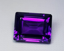 11.48 ct Top Quality Gem  Excellent Emerald Cut Natural Amethyst