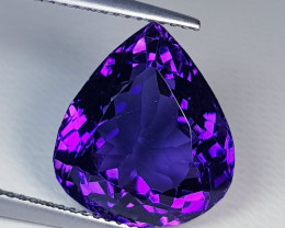 10.60 ct Top Quality Gem  Awesome Pear Cut Natural Amethyst