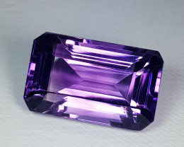 16.15 ct Top Quality Gem  Perfect Emerald Cut Natural Amethyst