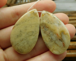 Crazy lace agate gemstone pair jewelry (G1547)