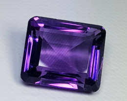 8.70 ct Top Quality Excellent Octagon Cut Natural Purple Amethyst