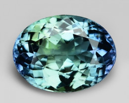 PEACOCK TANZANITE 1.21 Cts EXCELLENT BLUE GREEN COLOR  NATURAL