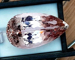 138.10 Carats Pear Cut Peach Color Kunzite Gemstone From Afghanistan