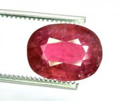 7.05 Carats Oval Cut Dark Pinkish Rose Color rubelite tourmaline Loose gems
