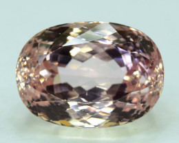 68.90 Carats Oval Cut Peach Color Kunzite Gemstone From Afghanistan