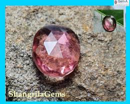 11.8mm 2.80ct Rubellite Pink tourmaline rose cut from Oro Mine Nigeria 11.8