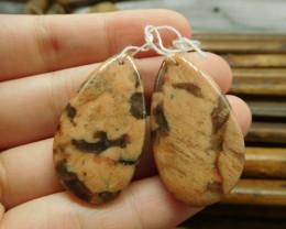 Orange gemstone matching gemstone pair oval (G1561)