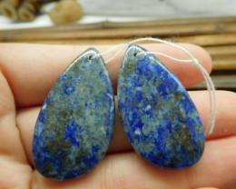Natural blue gemstone african sodalite earring bead (G1571)