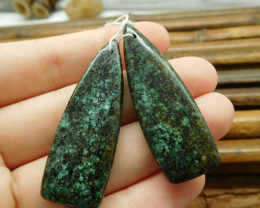 African turquoise earring beads pairs (G1582)
