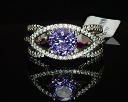 1.53ct Violet Spinel Ring