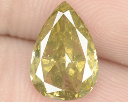 1.40 Cts Untreated Natural Fancy Yellowish Green Color Loose Diamond