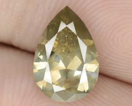 1.25 Cts Untreated Natural Fancy Greenish Yellow Color Loose DiamondDIAMOND