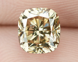 1.03 Cts AIG Certified Natural Fancy Intense Pinkish Brown Color Diamond