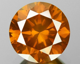 1.32 Cts Sparkling Fancy Vivid orange Color Natural Loose Diamond
