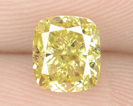 0.60 cts Untreated Natural Fancy Intense Yellow Color Loose Diamond- VS2