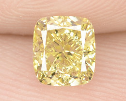 0.67 cts Untreated Natural Fancy Intense Yellow Color Loose Diamond- VS2