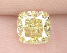 0.64 cts Untreated Natural Fancy Intense Yellow Color Loose Diamond- VS2