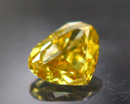Diamond 0.11Ct Natural Fancy Cognac Color Diamond 25CF32