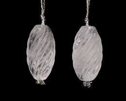 New Design Carved Crystal Earrings, stone for earrings making, 21x13mm H906