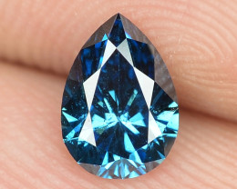 0.44 Cts Sparkling Very Rare Fancy Blue Color Natural Diamond
