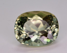 Amazing Color 6.80 Ct Natural Green Apatite. ARA