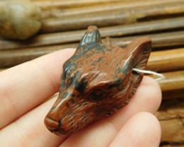 Mahogany obsidian gemstone  pendant bead (G1623)