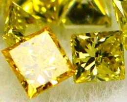 Diamond 0.10Ct Natural Yellow Color Fancy Diamond 10Pcs Lot 25CF82