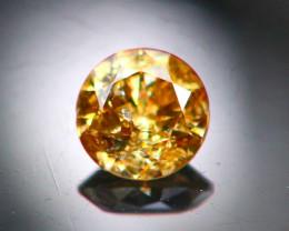 Diamond 0.15Ct Natural Brilliant Round Cut Fancy Color Diamond 25CF89
