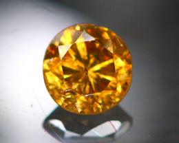 Diamond 0.37Ct Natural Brilliant Round Cut Fancy Color Diamond 25CF91