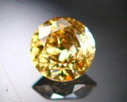 Diamond 0.17Ct Natural Brilliant Round Cut Fancy Color Diamond 25CF93