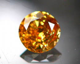 Diamond 0.17Ct Natural Brilliant Round Cut Fancy Color Diamond 25CF94