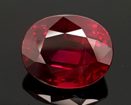 CRT 4.09CT PIGEONS BLOOD UNHEATED RUBY FROM MOZAMBIQUE VS