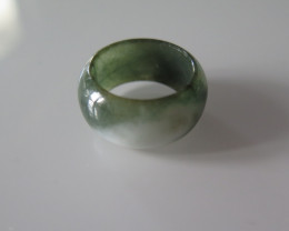 NATURAL JADE RING from BURMA....35.47cts...size 8 .5