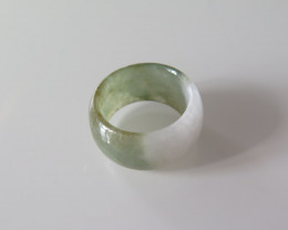 NATURAL JADE RING from BURMA....33.98cts...size 8