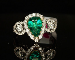 1.08ct Emerald Ring