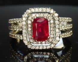 1.25ct Burma Ruby Ring