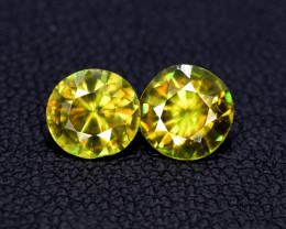 1.50 Carats Pair Of Sphene Gemstones