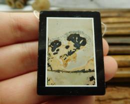 Natural gemstone chouhua jasper obsidian bead (G1644)